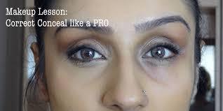 makeup lesson under eyes correcting concealing raji osahn