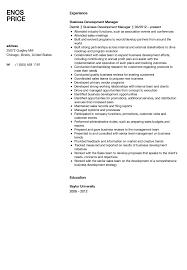 Business Development Manager Resume Business Development Manager