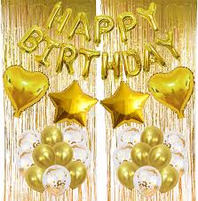 Gold <b>Balloons</b> Decorations, Happy Birthday Gold 13pcs Letters ...