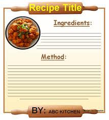recipe card template 91450050