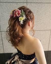 平原さんのヘアスタイル お色直しヘアstell Tredina