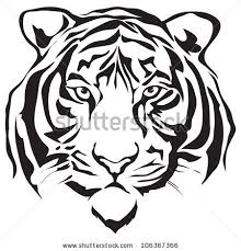 tiger face clipart black and white. Simple Black Tiger20face20clipart20black20and20white To Tiger Face Clipart Black And White