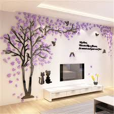 creative couple tree 3d sticker acrylic stereo wall stickers home decor tv backdrop living room bedroom on wall art tree images with creative couple tree 3d sticker acrylic stereo wall stickers home