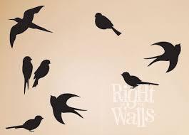 bird silhouette vinyl wall decal animal vinyl wall art on bird silhouette wall art with flying birds wall decal bird vinyl wall art stickers vinyl wall decal