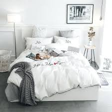 king size duvet covers white grey pink embroidery bedding set twin queen king size duvet cover