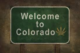 wele to colorado sign