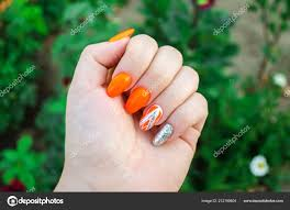 Perfektní Manikúra Přírodní Nehty Atraktivní Moderní Nail Art