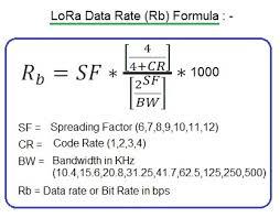 Lora Data Rate Calculator Lora Bit Rate Calculator