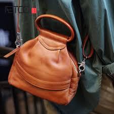 <b>AETOO</b> Leather <b>Original</b> Retro Handmade Handbag Soft Casual ...