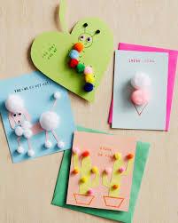 Valentines Day Cards For Boys Pom Pom Valentines Day Cards Martha Stewart