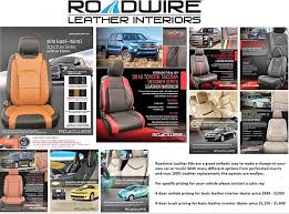 roadwire leather kits upgrade your new ride with a cool new interior many diffe color options and stitch colors and interior insert colors we are sure