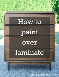 how to paint over laminate and why i