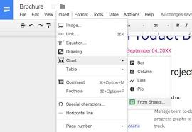 How To Make A Chart On Google Docs How To Insert A Google Sheets Spreadsheet Into A Google Docs
