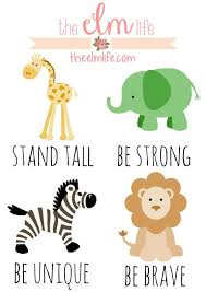 Download and enjoy our free wall posters. Free Safari Themed Artwork Printables For The Nursery Stand Tall Be Strong Safari Theme Nursery Jungle Theme Nursery Elephant Themed Nursery