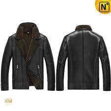 shearling biker jacket mens cw865131 cwmalls com