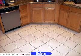 best way to clean ceramic tile and grout floors