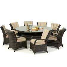 8 seater outdoor table maze rattan garden furniture brown 8 round table set 8 seater rattan table cover