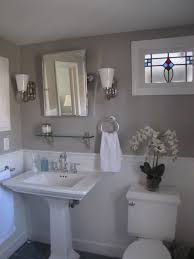 good grey paint for bathroom. favorite paint colors: bathroom bedford gray by martha stewart trim and wainscoating: picket fence good grey for y