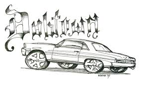 Small Picture Lowrider Sketches Pictures to Pin on Pinterest Clanek