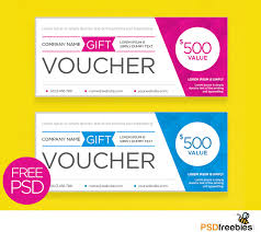 Business Voucher Template Clean and Modern Gift voucher template PSD PSDFreebies 1