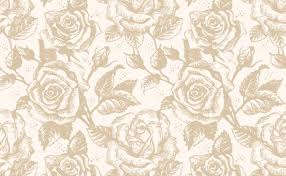 Rose Pattern Classy Retro Rose Pattern