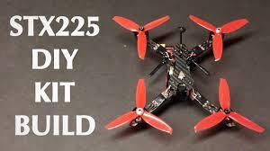 stx225 diy version fpv racing rc drone kit