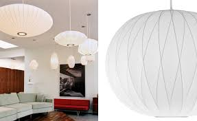 Nelson Bubble Lamp Crisscross Ball - Hivemodern intended for George Nelson  Pendant Lights (Image