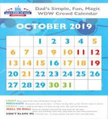2019 October Calendar Dads Walt Disney World Crowd Calendars For 2018 And 2019