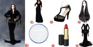 how to dress like morticia addams diy costume