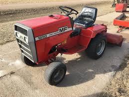massey ferguson 1650 garden tractor with roto tiller mower deck
