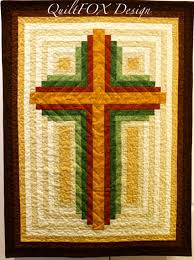 Cross Quilt Pattern Mesmerizing Log Cabin Christian Cross Multiple Sizes PDF Download