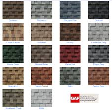 It is recommended that you view an actual shingle before making a