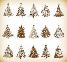 Christmas Tree Line Art Free Christmas Tree Clip Art Vector Images