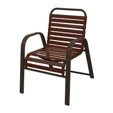 marco island brownstone commercial grade aluminum patio dining chair with saddle vinyl straps 2