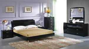 Bedroom Design: Exquisite Cheap Queen Bedroom Sets Design With Dominant  Black Finish And Accented With
