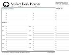 Student Assignment Planner Printable Student Planner Template Homework Printable And College Organizer