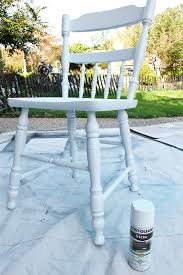 rustoleum spray paint was perfect for these chairs