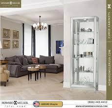 680590 shayne silver mirrored curio cabinet