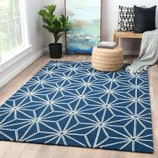 navy and white area rug indoor outdoor geometric blue grey