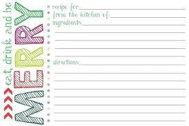 Christmas Recipe Card Christmas Recipe Card Template Sample Professional Letter Formats