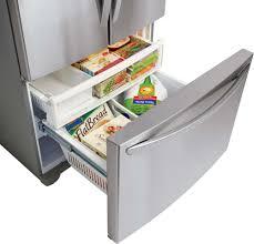 lg french door refrigerator freezer. french door refrigerator lg lfc28768st - interior view freezer drawer lg