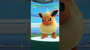 Pokémon GO - Raid Boss Flareon 2 person Takedown - YouTube