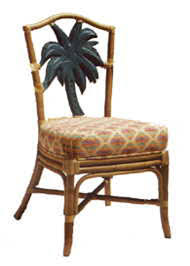 #1014 Palm Tree Side Chair