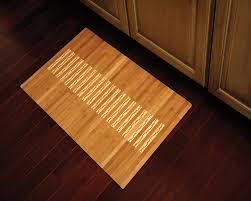 bamboo kitchen bath mat natural