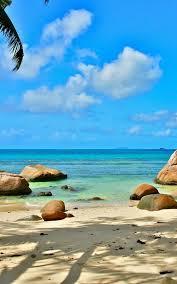 Beach Seychelles Mobile Wallpaper ...