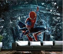 3d wallpaper spiderman superhero wall