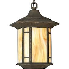 arts and crafts collection weathered bronze outdoor hanging lantern