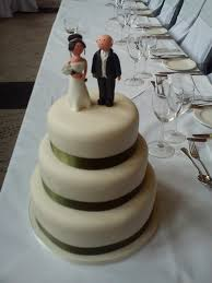 Simple But Effective Cake With Bride And Groom Timeless Cakes