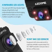 AZDOME Original Car DVR GS65H Mini Dual Lens Dash Cam ...