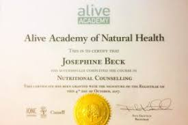 certified nutritional counsellor diploma alive academy vancouver canada